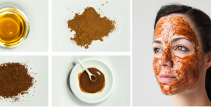 Honey, Nutmeg, and Cinnamon Face Mask