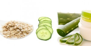 Aloe Vera, Oatmeal, and Cucumber Mask
